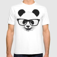 Panda Head Too Mens Fitted Tee White MEDIUM