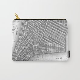 Vintage Map of Lower New York City (1807) BW Carry-All Pouch