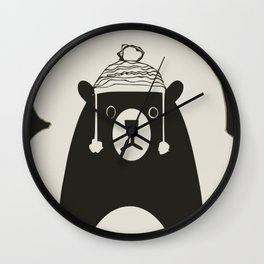 Bear illustration for kids Wall Clock