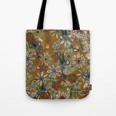 nectar bird garden gold Tote Bag