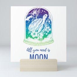 Moon Turtle Mini Art Print