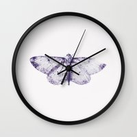 butterfly Wall Clocks featuring Butterfly by Sirka H.