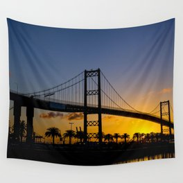 Where man and sky meet in the morning Wall Tapestry