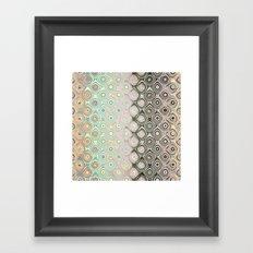 Pastel Pattern of Circular Shapes Framed Art Print