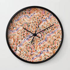 red topography Wall Clock