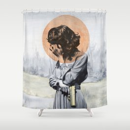 Quiet, I need to think. Shower Curtain