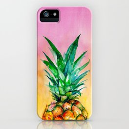 Ombre Pineapple iPhone Case