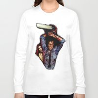 evil dead Long Sleeve T-shirts featuring evil dead  by Official Nicolas Cage Cats