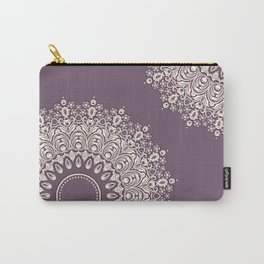 Asymmetric Mandalas on Mulberry Background Carry-All Pouch