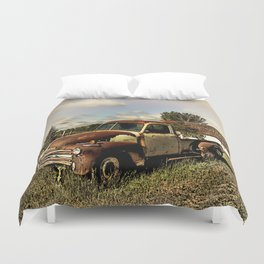 Rusty '51 Chevy Pickup Duvet Cover