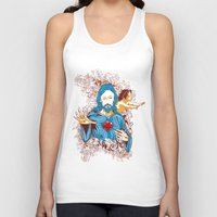 jesus Tank Tops featuring Jesus  by Tshirt-Factory