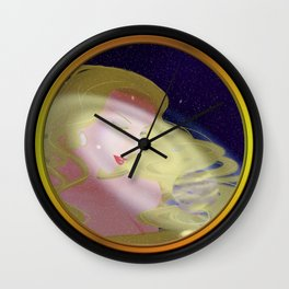Eyes watching over the earth Wall Clock