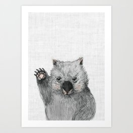 Wombat fellow Art Print