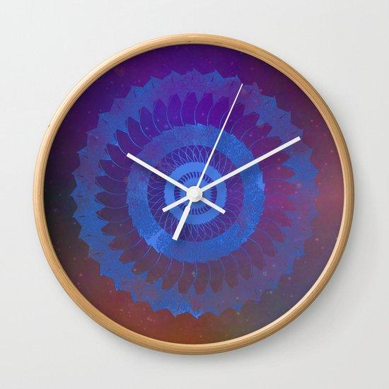Technicolor Cosmos Blue Wall Clock