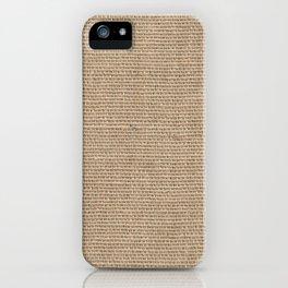 Burlap Texture iPhone Case