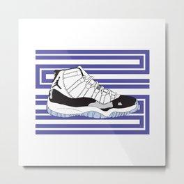Jordan 11 Concord Metal Print