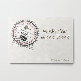 A dream. A memory. Wish You Were Here. Metal Print