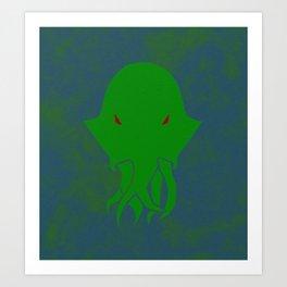 Minimalist Cthulhu Art Print