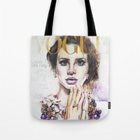 lana Tote Bags featuring Lana by Kim Morrow