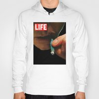 marijuana Hoodies featuring LIFE MAGAZINE: Marijuana by Tia Hank
