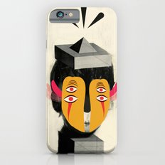 4 eyes + psychedelic collage iPhone 6s Slim Case