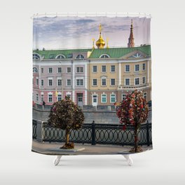 keyhole capital Shower Curtain