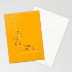 Fosbury jump Stationery Cards