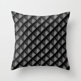 Dark Metal Scales Throw Pillow