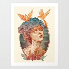 LADY Art Print
