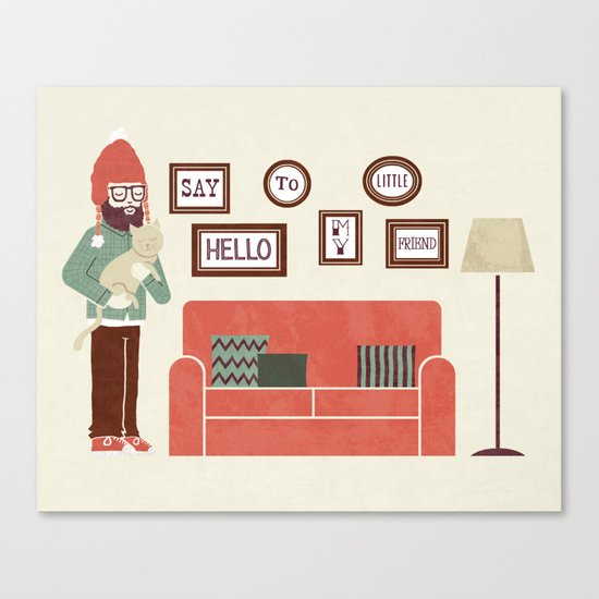 Cat Person Canvas Print