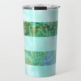 Turquoise Stripes Travel Mug