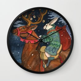 Holiday Run Wall Clock