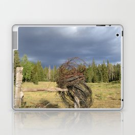 Barbed Wire Up in the White Mountains Arizona Laptop & iPad Skin
