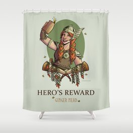 Hero's Reward Ginger Mead Shower Curtain