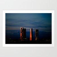 skyline of Madrid Art Print