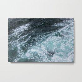 Mendocino High Tide Waves Metal Print