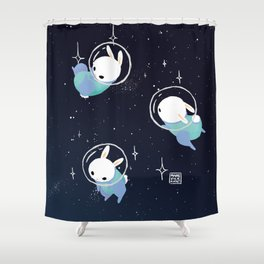Space Bunnies Shower Curtain