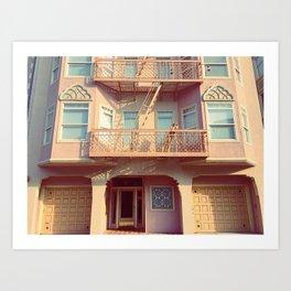 Marina Pinks: San Francisco Art Print