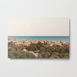 Where The Land Meets The Sea Metal Print