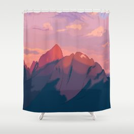 Sunset Hues Shower Curtain