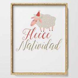 Fleece Natividad Serving Tray