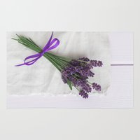 lavender Area & Throw Rugs featuring Lavender by Elisabeth Coelfen