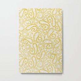 ziya cream yellow Metal Print