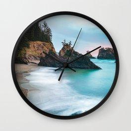 Secret Beach Sunset Wall Clock