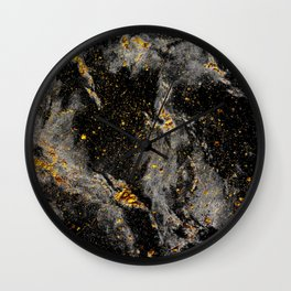 Galaxy (black gold) Wall Clock