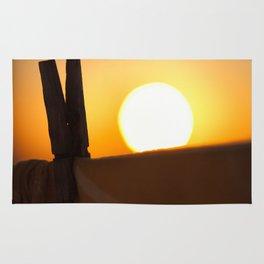 Clothes peg at sunrise Rug