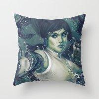 the legend of korra Throw Pillows featuring Korra by MATT DEMINO