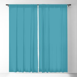 Blue Lagoon Solid Matte Colour Blocks Blackout Curtain