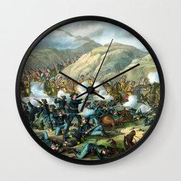 Battle Of The Big Horn Wall Clock