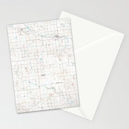 ND Mott 285448 1980 topographic map Stationery Cards